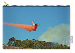 Carry-all Pouch featuring the photograph Extinguishing The Fire On San Bruno Mountain Near San Francisco II by Jim Fitzpatrick