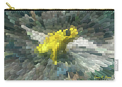 Carry-all Pouch featuring the photograph Extrude Yellow Frog by Donna Brown