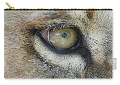 Carry-all Pouch featuring the photograph Eye Of The Lion by Judy Whitton