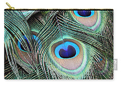 Carry-all Pouch featuring the photograph Eye Of The Peacock #2 by Judy Whitton