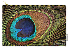 Eye Of The Peacock Carry-all Pouch by Judy Whitton