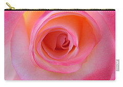 Carry-all Pouch featuring the photograph Eye Of The Rose by Deb Halloran