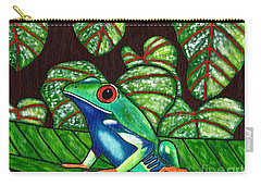 Carry-all Pouch featuring the painting Eye On You by Laura Forde