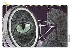 Carry-all Pouch featuring the painting Eye See You by Karen Zuk Rosenblatt