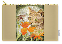 Carry-all Pouch featuring the painting Eye To Eye by Angela Davies