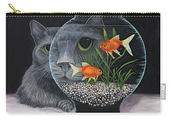 Carry-all Pouch featuring the painting Eye To Eye by Karen Zuk Rosenblatt