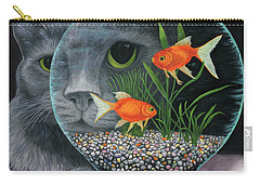 Carry-all Pouch featuring the painting Eye To Eye Sq by Karen Zuk Rosenblatt