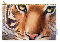Eyes Of The Tiger Carry-all Pouch by Bonnie Rinier