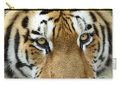 Carry-all Pouch featuring the photograph Eyes Of The Tiger by John Haldane