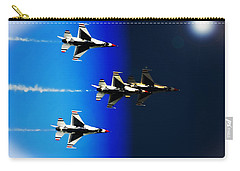 Carry-all Pouch featuring the photograph F16 Flight Into Space by DigiArt Diaries by Vicky B Fuller