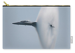 Carry-all Pouch featuring the photograph Fa 18 Super Hornet Vapor Circle 2 by Donna Corless