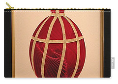 Carry-all Pouch featuring the mixed media Faberge Egg 2 by Ron Davidson
