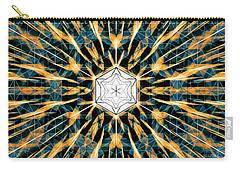 Carry-all Pouch featuring the drawing Fabric Of The Universe by Derek Gedney