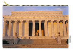 Facade Of A Memorial Building, Lincoln Carry-all Pouch by Panoramic Images