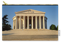 Facade Of A Memorial, Jefferson Carry-all Pouch by Panoramic Images