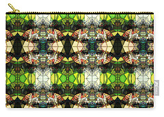 Carry-all Pouch featuring the photograph Face In The Stained Glass Tiled by Clayton Bruster