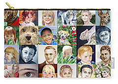 Facebook Of Faces Carry-all Pouch