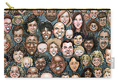 Faces Of Humanity Carry-all Pouch