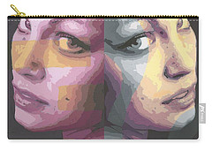 Faces Carry-all Pouch by Rachel Hames