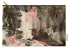 Carry-all Pouch featuring the painting Facial Expressions by Mike Breau