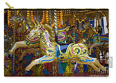 Carry-all Pouch featuring the photograph Fairground Carousel by Lee Avison