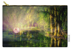Fairy In Pink Bubble In Serenity Forest Carry-all Pouch