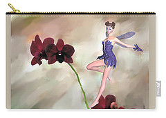 Fairy In The Orchid Garden Carry-all Pouch by Rosalie Scanlon