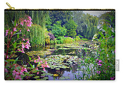 Fairy Tale Pond With Water Lilies And Willow Trees Carry-all Pouch