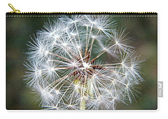 Carry-all Pouch featuring the photograph Fairy Umbrellas by Kathy Barney