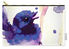 Fairy-wren Carry-all Pouch by Dawn Derman