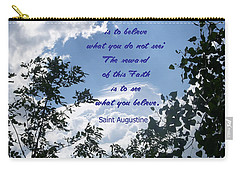 Carry-all Pouch featuring the photograph Faith by Aimee L Maher Photography and Art Visit ALMGallerydotcom