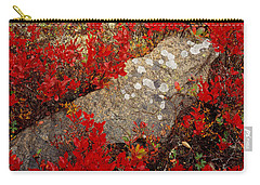 Fall Blueberries And Moss-h Carry-all Pouch