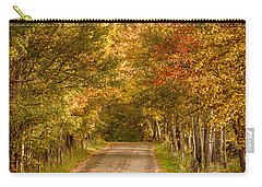 Carry-all Pouch featuring the photograph Fall Color Along A Peacham Vermont Backroad by Jeff Folger