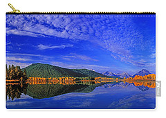 Carry-all Pouch featuring the photograph Fall Color Oxbow Bend Grand Tetons National Park Wyoming by Dave Welling