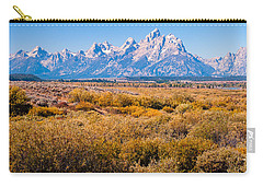 Fall Colors In The Tetons   Carry-all Pouch by Lars Lentz