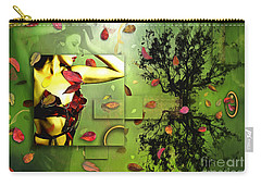 Carry-all Pouch featuring the digital art Fall Colors by Nola Lee Kelsey