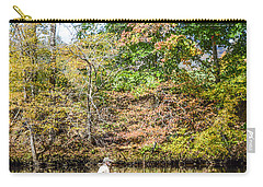 Carry-all Pouch featuring the photograph Fishing Reflection by Debbie Green