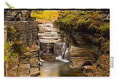 Fall Foliage At Dusk Treman Park Carry-all Pouch