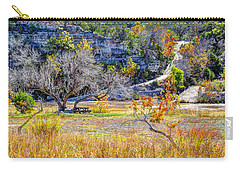 Fall In The Texas Hill Country Carry-all Pouch by Savannah Gibbs