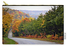 Fall On Fox Hollow Road Carry-all Pouch by Cricket Hackmann
