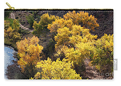 Carry-all Pouch featuring the photograph Fall On The Chama River by Roselynne Broussard