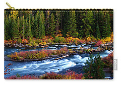 Carry-all Pouch featuring the photograph Fall On The Deschutes River by Kevin Desrosiers