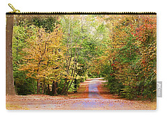 Carry-all Pouch featuring the photograph Fall Pathway by Judy Vincent