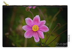 Fall Pink Daisy Carry-all Pouch
