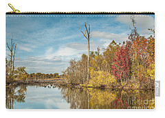 Carry-all Pouch featuring the photograph Fall Pond by Debbie Green