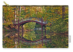 Carry-all Pouch featuring the photograph Fall Reflections At Crim Dell by Jerry Gammon