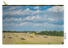Carry-all Pouch featuring the painting Fall Rounds by Norm Starks