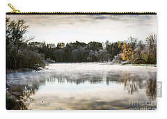 Fall Scene On The Mississippi Carry-all Pouch by Cheryl Baxter