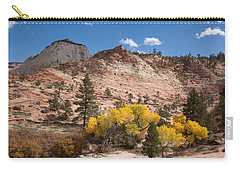 Carry-all Pouch featuring the photograph Fall Season At Zion National Park by John M Bailey