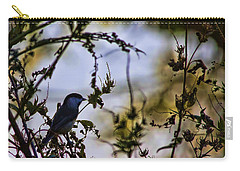 Carry-all Pouch featuring the photograph Fall Silhouette by Gary Holmes